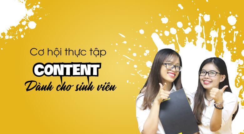 Tuyển thực tập Content Marketing