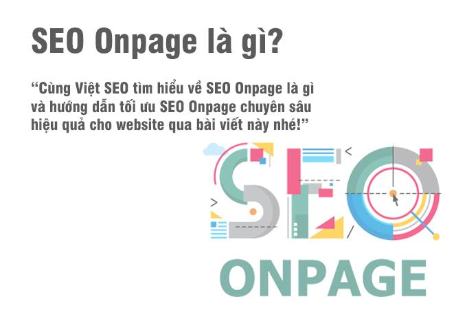 Hướng dẫn Onpage SEO cho Website chuyên sâu từ A đến Z